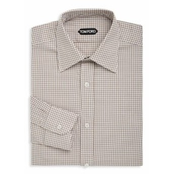 トムフォード Men Clothing Gingham Cotton Dress Shirt