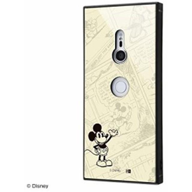 Xperia XZ3 ケース ディズニー キャラクター [ 耐衝撃 ガラスケース KAKU ] ストラップホール付(SOV39 / SO-01L 対応)/ ミッキーマウス/O