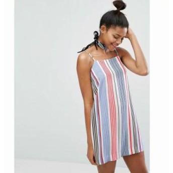 モンキー ワンピース Multi Stripe Cami Dress Stripe