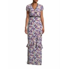 サローニ ロンドン レディース ワンピース Sonia Floral Print Maxi Dress