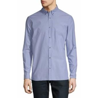 カルバンクラインジーンズ Men Clothing Casual Cotton Button-Down Shirt