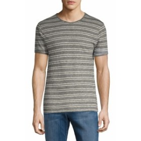 J. リンデベルク Men Clothing Short-Sleeve Striped Tee