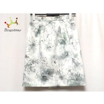 ジャスグリッティー JUSGLITTY スカート サイズ1 S レディース グレー×白×黒 花柄 スペシャル特価 20190821