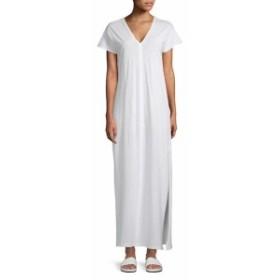 サックスフィフスアベニュー レディース ワンピース V-Neck Cotton Long Dress