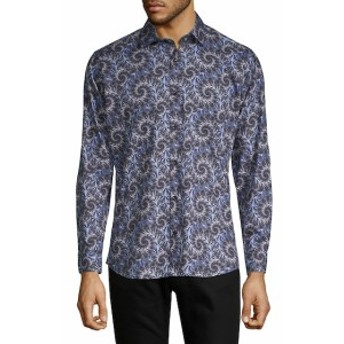 ヤレドラング Men Clothing Printed Cotton Shirt