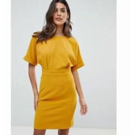 エイソス ワンピース wiggle mini dress Mustard