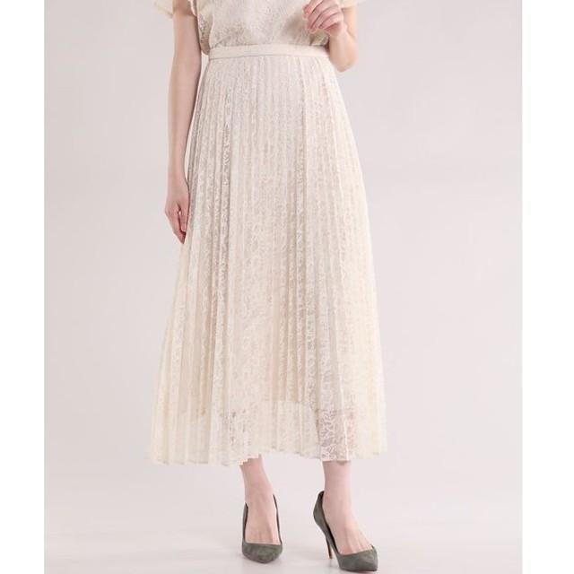 ef-de / 《Maglie White》レースプリーツスカート