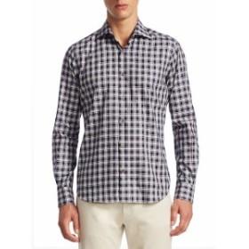 サックスフィフスアベニュー Men Clothing COLLECTION Plaid Cotton Button-Down Shirt