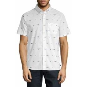 マイケルバスティアン Men Clothing Graphic Cotton Button-Down Shirt
