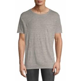 オニア Men Clothing Roundneck Linen T-Shirt