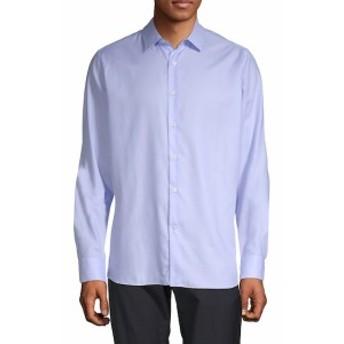 ヴァレンティノ Men Clothing Long-Sleeve Cotton Button-Down Shirt