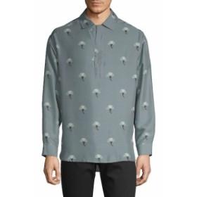 ヴァレンティノ Men Clothing Printed Silk Polo