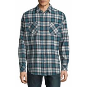 スタンダード イシュー NYC Men Clothing Plaid Cotton Button-Down Shirt