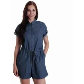 ドクターデニム オールインワン Phoebe Mid Blue Wash Jumpsuit blue