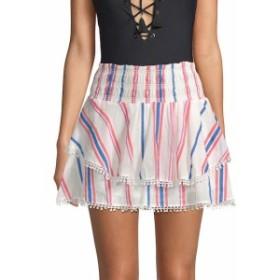 レドカーター レディース スカート Vega Striped Cotton Mini Skirt