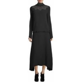 デレクラム レディース ワンピース Studded Mockneck Silk Dress