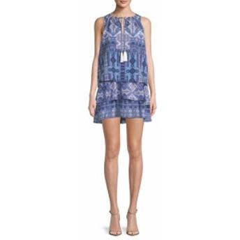 ファースト サイト レディース ワンピース Printed Sleeveless Dress