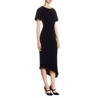セント ジョン レディース ワンピース Asymmetric Velvet Midi Dress