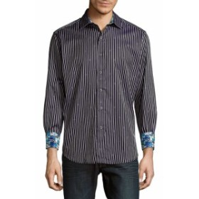 ロバートグラハム Men Clothing Alderaan Striped Diamond Shirt