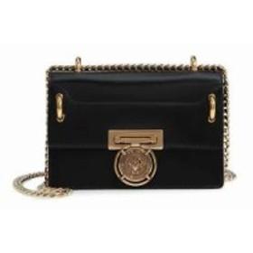 バルマン ショルダーバッグ Glace Leather Medium Box Bag Noir