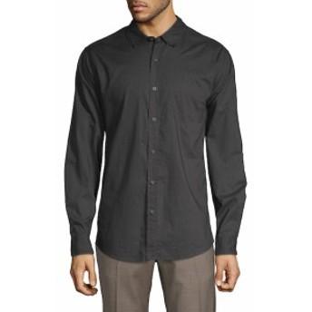 サックスフィフスアベニュー Men Clothing Short-Sleeve Plaid Shirt