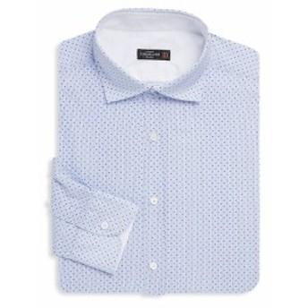 コーネリアーニ Men Clothing Long Sleeve Cotton Dress Shirt