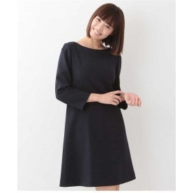 TARA JARMON TOILE DOUBLE カラー切替ドレス ワンピース,ネイビー
