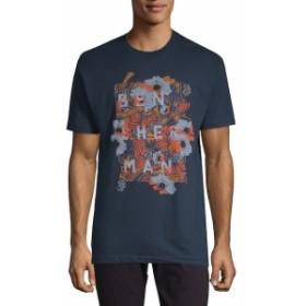 ベンシャーマン Men Clothing Floral-Print Cotton Tee