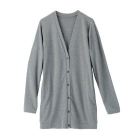人気のため新色追加!!カットソーロング丈カーディガン (大きいサイズレディース) plus size cardigan, 襟衫, 開襟衫