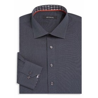 レビナス Men Clothing Contemporary-Fit Cotton Dress Shirt