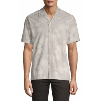 パブリッシュ Men Clothing Coen Short-Sleeve Cotton Button-Down Shirt