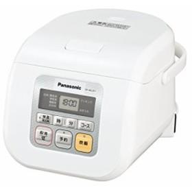 パナソニック 3合 炊飯器 マイコン式 ホワイト SR-ML051-W(中古品)
