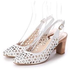 アンタイトル シューズ UNTITLED shoes バックバンドパンプス (オフホワイト)