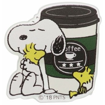 スヌーピー バッジ ダイカット アクリル バッジ カフェ ピーナッツ コレクション雑貨 キャラクター グッズ メール便可