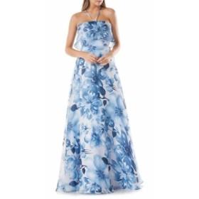 カーメンマークバルボインフュージョン レディース ワンピース Floral-Printed Organza Ball Gown