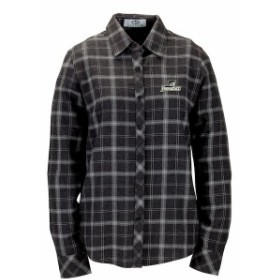 Vantage Apparel バンテージ アパレル スポーツ用品  Providence Friars Womens Charcoal Brewer Flannel Button-Down Lo