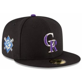 New Era ニュー エラ スポーツ用品 New Era Colorado Rockies Black 2018 Jackie Robinson Day 59FIFTY Fitted Hat