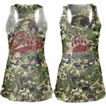 Blue 84 ブルー エイティーフォー スポーツ用品 Montana Grizzlies Womens Camo Cover-Up Burnout Tank Top