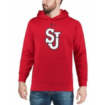 Under Armour アンダー アーマー スポーツ用品 Under Armour St. Johns Red Storm Red Big Logo Storm Performance Pullo
