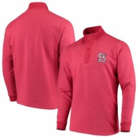 Antigua アンティグア 服 スウェット Antigua St. Louis Cardinals Red Pivotal Button Pullover Sweatshirt