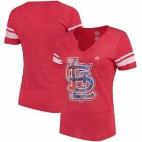 Majestic マジェスティック スポーツ用品  Majestic St. Louis Cardinals Womens Red/White Slugging Percentage V-Notch