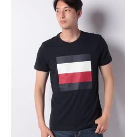 【30%OFF】 トミーヒルフィガー シグネチャーカラーブロックTシャツ メンズ ネイビー S 【TOMMY HILFIGER】 【セール開催中】