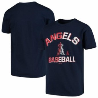 Outerstuff アウタースタッフ スポーツ用品 Los Angeles Angels Youth Navy Team Trainer T-Shirt