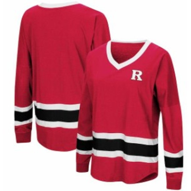 Colosseum コロセウム スポーツ用品  Colosseum Rutgers Scarlet Knights Womens Scarlet Marquee Players Oversized Long Sl