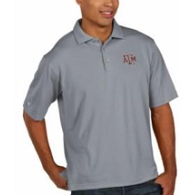 Antigua アンティグア シャツ ポロシャツ Antigua Texas A&M Aggies Mens Gray Pique Xtra Lite Polo