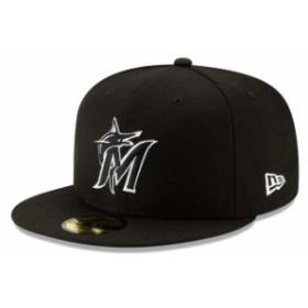 New Era ニュー エラ スポーツ用品  New Era Miami Marlins Black 2019 Black-on-Black 59FIFTY Fitted Hat
