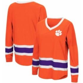 Colosseum コロセウム スポーツ用品  Colosseum Clemson Tigers Womens Orange Plus Size Marquee Players Oversized Long Sl