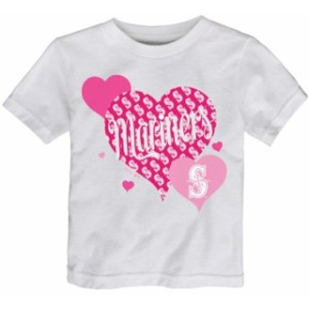 Outerstuff アウタースタッフ スポーツ用品 Seattle Mariners Girls Toddler White Bubbly Luv T-Shirt
