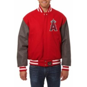 JH Design ジェイエイチ デザイン スポーツ用品  JH Design Los Angeles Angels Red/Gray Two-Tone Wool Jacket