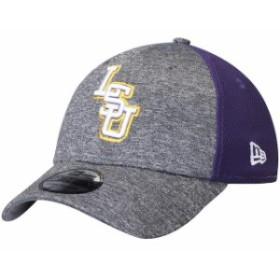 New Era ニュー エラ スポーツ用品  New Era LSU Tigers Heathered Gray/Purple Shadow Blocker 39THIRTY Flex Hat